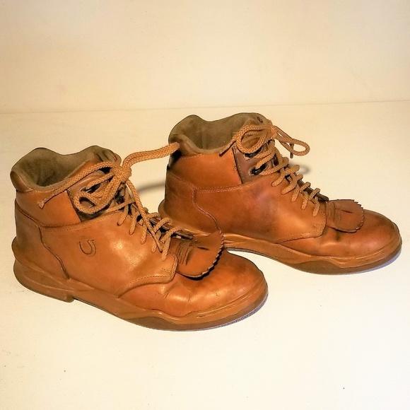 1ce94cf485c Roper Tan Leather Horseshoes - Size 8 w kilties